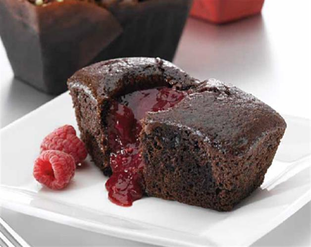 Chocolate Raspberry Mini Loaf Cakes