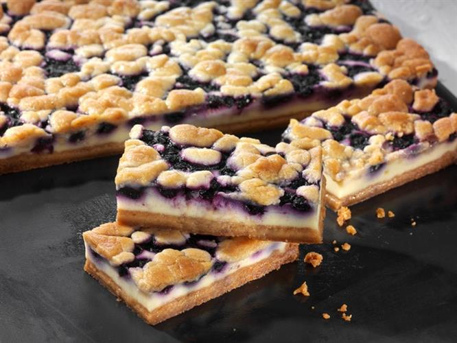 Cookie Cheesecake Bars Blueberry