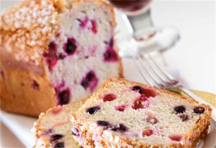 Easter Berry Crumble Loaf Cake