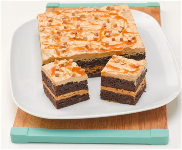 Toffee Brownie Layered Cake
