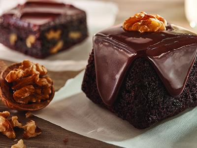 Brownies automnaux au fondant