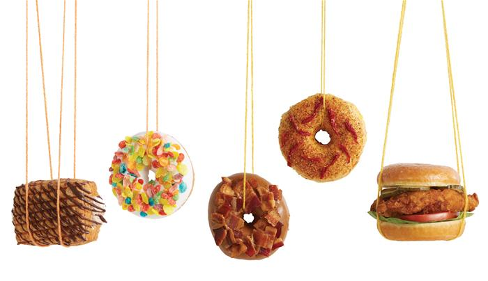 Cereal_Chicken_Bacon Hanging donuts