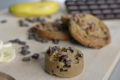Nouveau cookie puck prêt à cuire Banane & chocolat noir