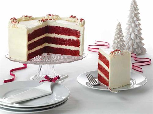 Red Velvet Christmas Cake
