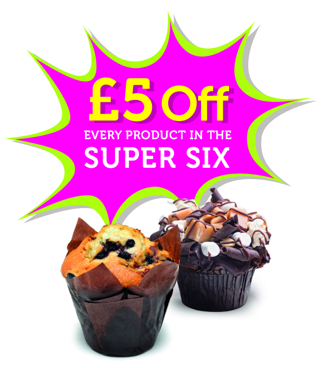 Super Six Savings Flash plus muffin
