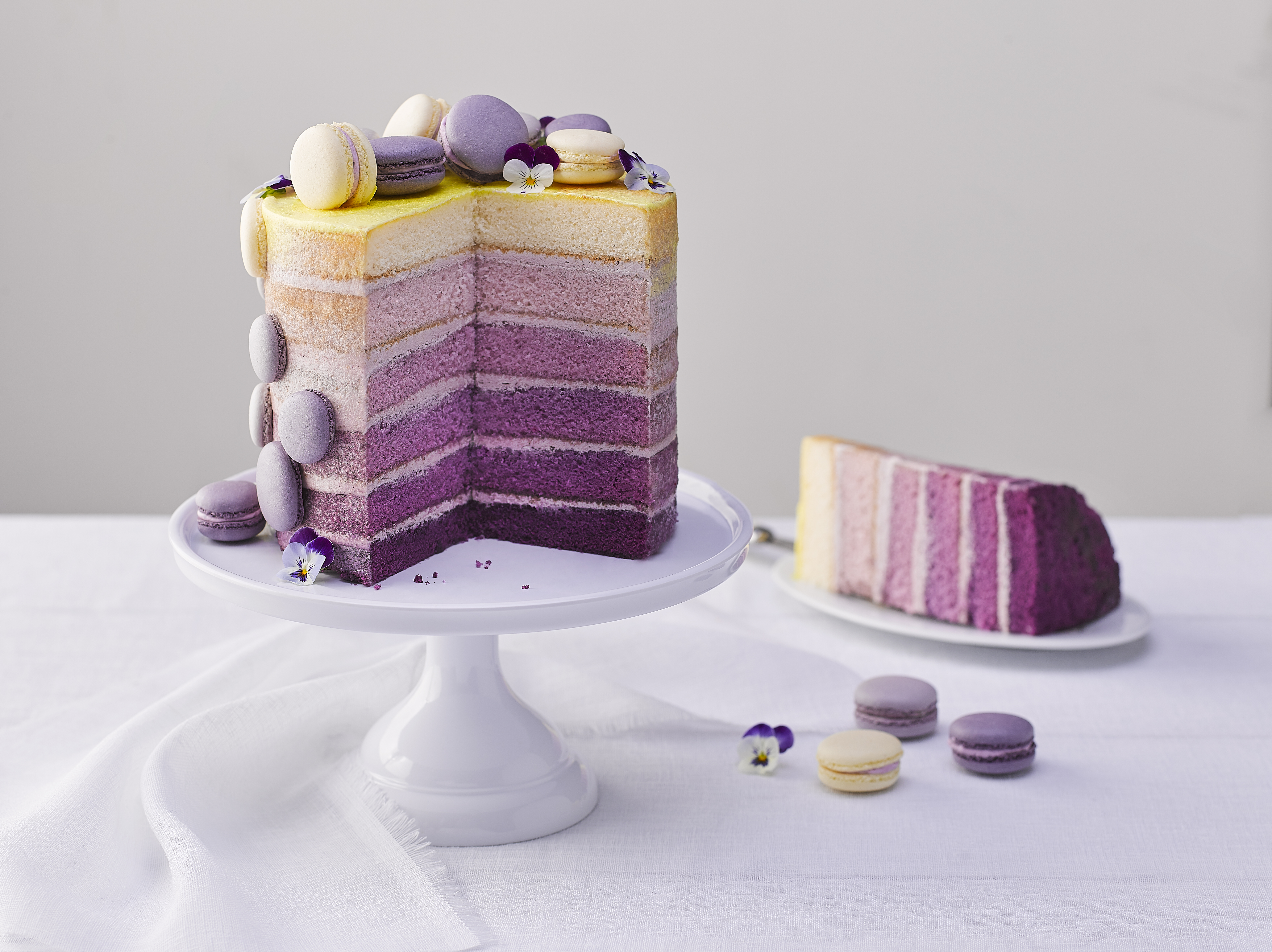 Sunrise Ombre Layer Cake