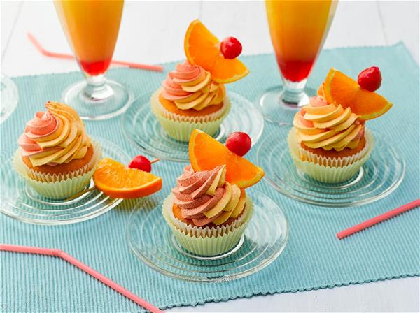 Sunrise Mocktail Cupcakes