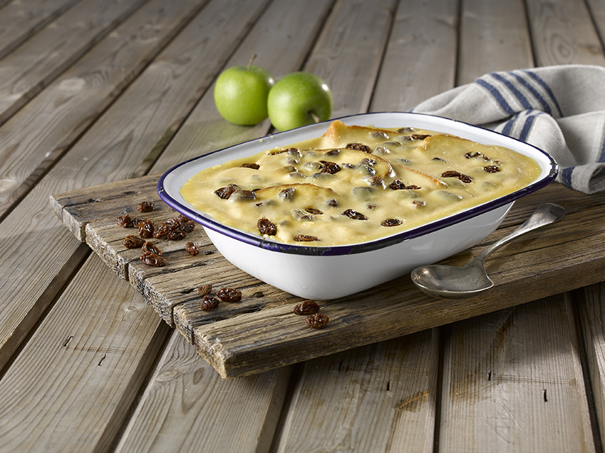 Apple & Raisin Brioche Pudding