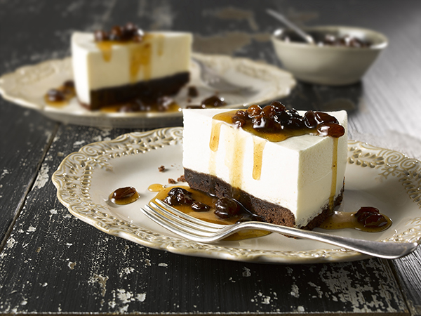 Rum and Raisin Brownie Cheesecake