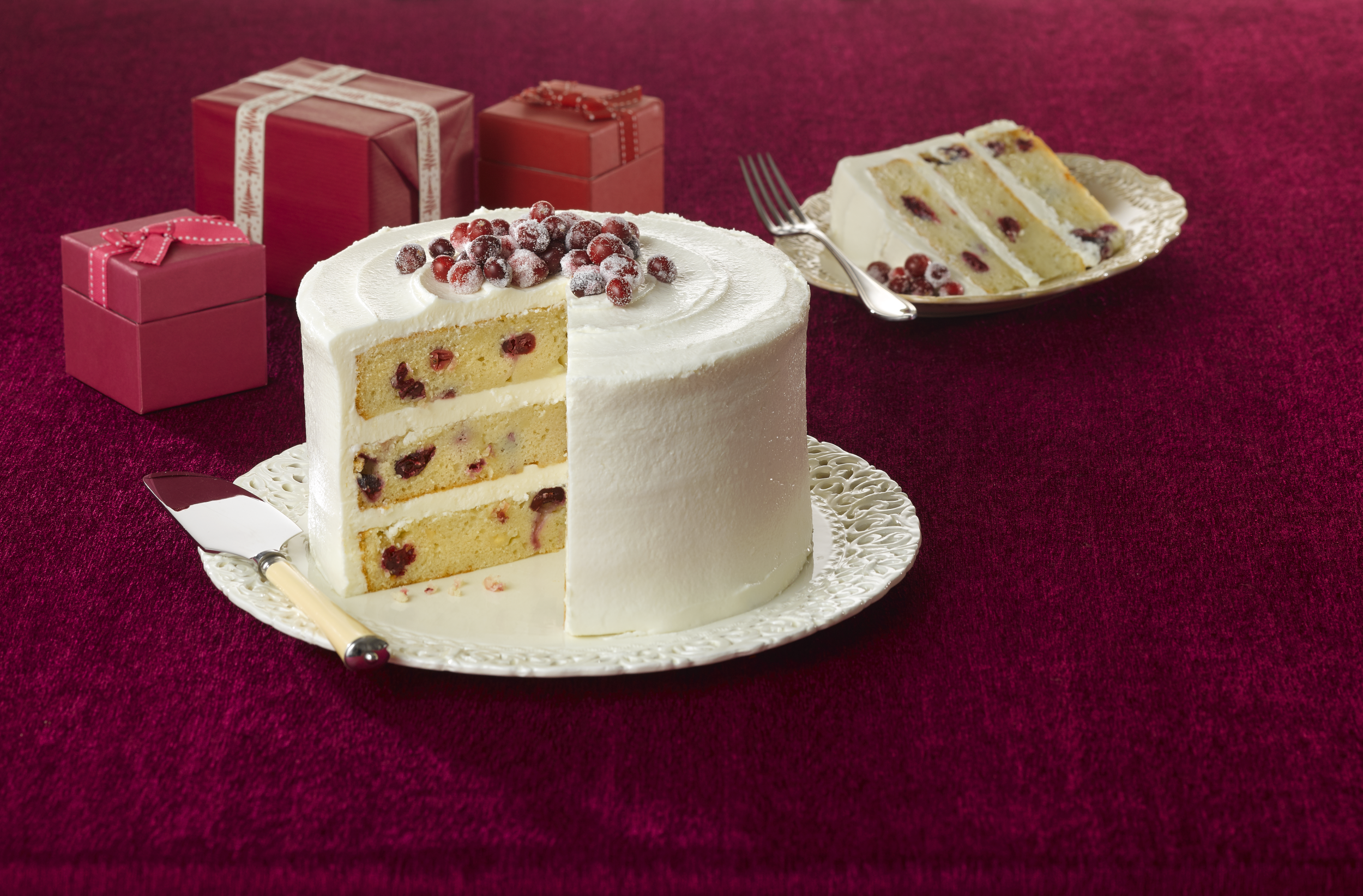 Secret Recipe Cranberry Christmas cake LR