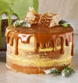 Honey Lavender Waterfall Cake