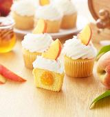 Inspired by You Honey Bourbon Peach Filling Cupcakes