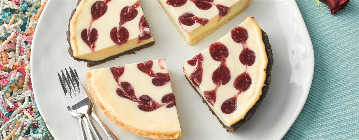 Käsekuchen White Chocolate Raspberry