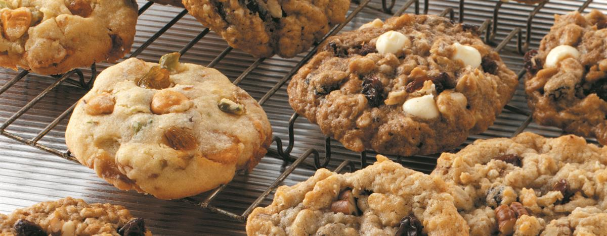 Raisin & Pecan Crunch Cookies