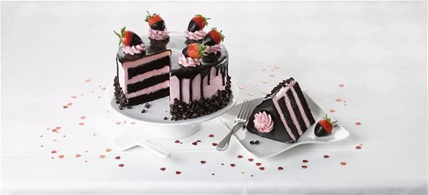 Chocolate Strawberry Gateau