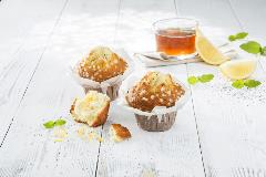 PACK_SURG_600303022 Muffin flowercup fourré citron et graines de pavot 120 g DAWN