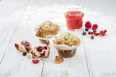 PACK_SURG_600304022 Muffin Flowercup fourré Fruits Rouges 122 g DAWN