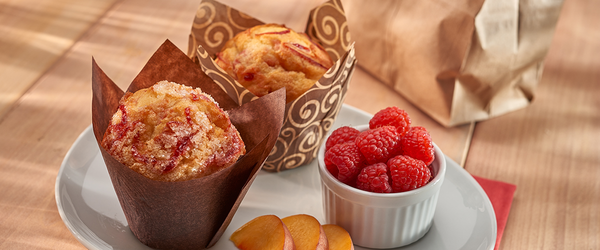 Just Peachy Melba Muffins