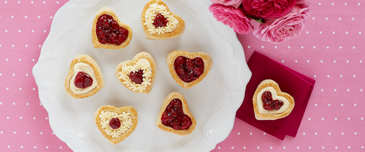 Strawberry Cream Cheese Puff Pastries