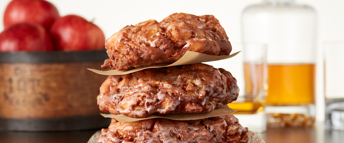 Vanilla Bourbon Apple Fritters